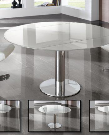 Mesa Alba redonda extensible diseño Schuller 250516Nn /20
