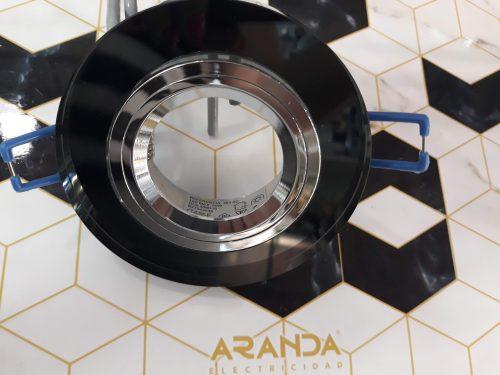 aro-cristal-negro-espejo-gu10-led-fijo-electricidad-aranda-lamparas-almeria