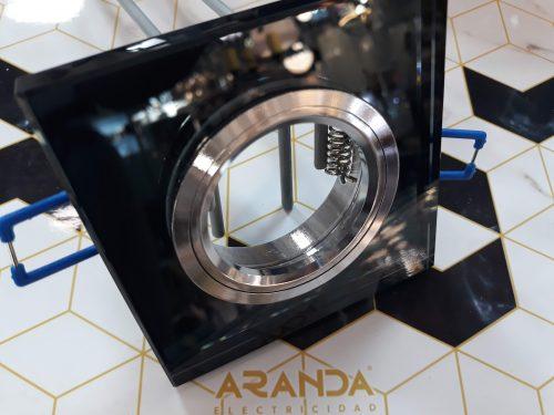 aro-empotrable-gu10-espejo-cuadrado-negro-electricidad-aranda-lamparas-almeria