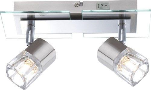 mesh-Globo foco Níquel-mate, cromo, cristal transparente, cristal transparente, interruptor, l- 100, electricidad-aranda-lamparas-almeria 1 x G9 33 W 230 V 56450-1