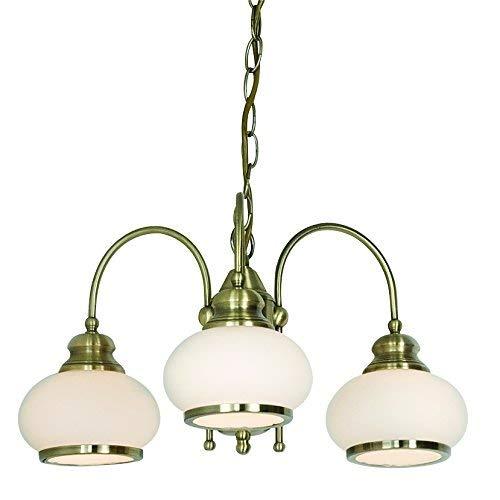 globo 6900-3 E14 40 Watt Nostalgika Pendant Lamp Old Brass Satined-electricidad-aranda-lamparas-almeria-