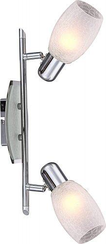 regleta-dos-focos-e14-cristal-globo-electricidad-aranda-lamparas-almeria-