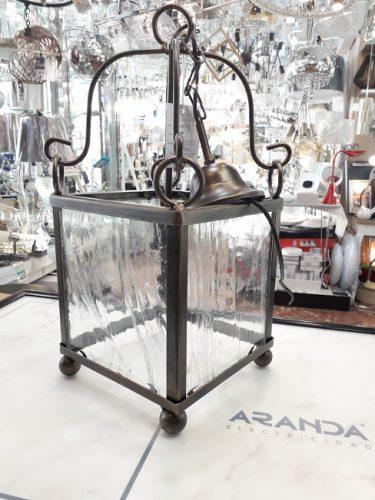 farol-rustico-fordecor-cristal-para-cocina-salon-electricidad-aranda-cobre-lamparas-almeria-baratas