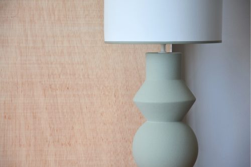 lampara-ceramica-forma-verde-musgo