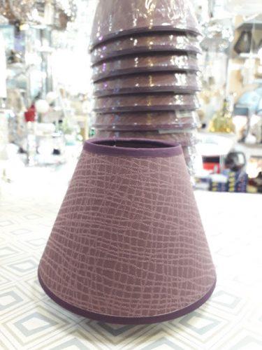 pantalla-para-lampara-e14-pequeña-elegante-malva-lila-morada-conica-barata-ilexpa-comprar-almeria-electricidad-aranda