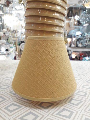 pantalla-para-lampara-e14-pequeña-elegante-oro-mostaza-conica-barata-ilexpa-comprar-almeria-electricidad-aranda