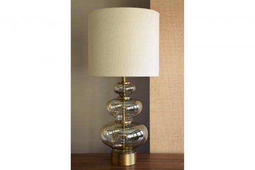 lampara-mesa-vidrio-ambar-con-pantalla-cristal-dorado-vp-ourense