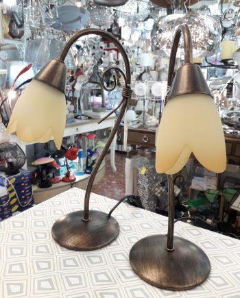sobremesa-dormitorio-forja-barata-cobre-tulipa-cristal-electricidad-aranda-lamparas-almeria-