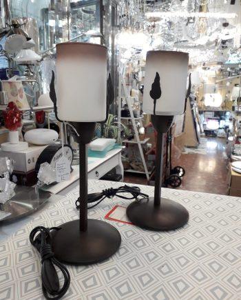 sobremesa-lampara-mesa-forja-barata-silvio-electricidad-aranda-lamparas-almeria-marron-hoja-cristal