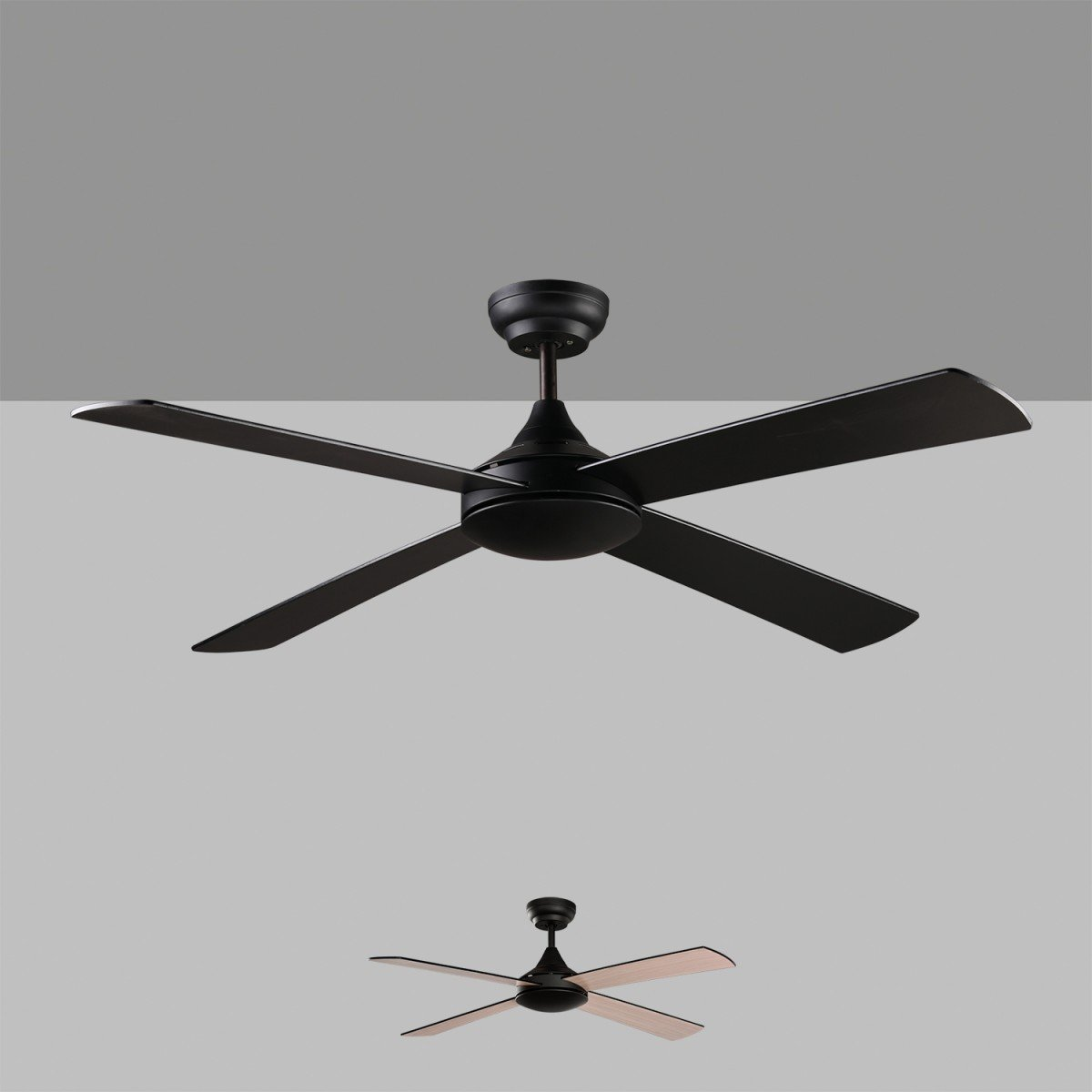 Ventilador Negro sin luz Raki 132cm V250452XN Acb