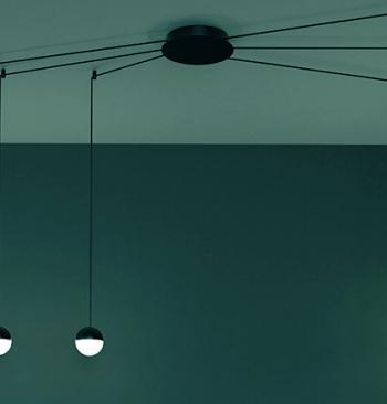 custo acb iluminación lampara led negra