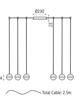 medidas lampara negra acb