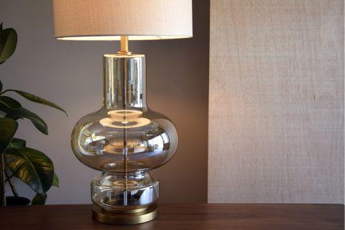 lampara-mesa-vidrio-ambar-c-pantalla