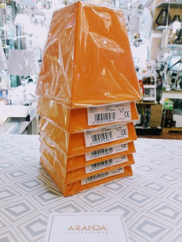 pantalla-para-lampara-e14-pequeña-elegante-naranja-barata-ilexpa-comprar-almeria-electricidad-aranda