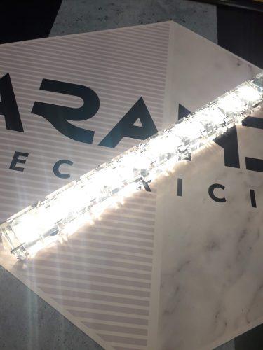 LAMPARA-LED-diseño-cromo-cristal-colgante-electricidad-aranda-lamparas-almeria-