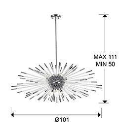 schuller-evasion-381628d-single-9-light-pendant-dark-chrome-with-remote