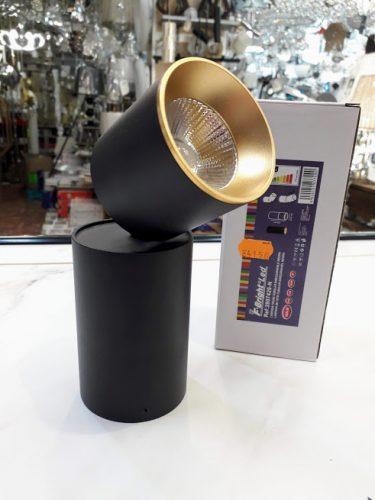 Foco tubular direccionable articulado negro oro 10w Led 3k 2807420-N F Bright