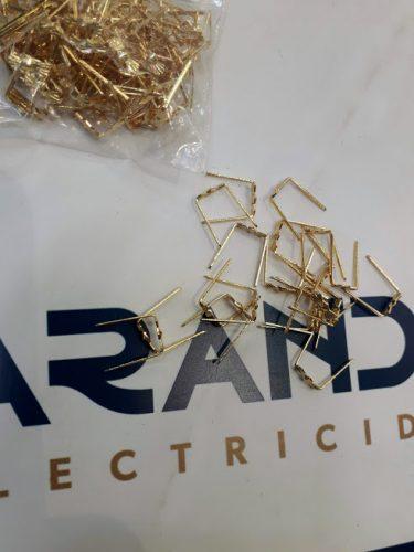 Lampistería, Lazo de 1,5cm para cristales de lámparas ORO, bolsa 100 unidades DISPONIBLES EN TIENDA