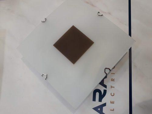 Mini plafón cudadrado con marron 15cm g9
