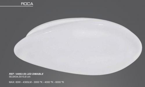 Plafón Led ROCA dimable 59cm Anperbar V4063 60w