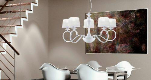 Colección Elea_lampara-5-brazos-blanca-ajp-electricidad-aranda-lamparas-almeria-