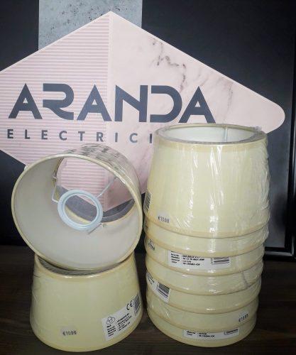pantalla-para-lampara-e27-beige-ilexpa-en-electricidad-aranda-lamparas-almeria-