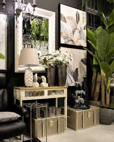 cuadro-elegante-dorado-y-negro-belda-electricidad-aranda-lamparas-almeria-