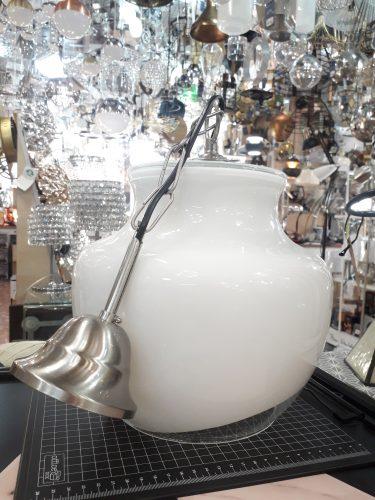 Colgante cristal suspendido 25 cm opal/transparente blanco 3116 Silvio