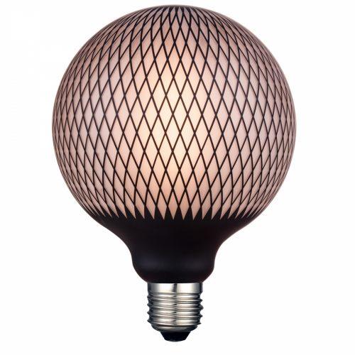 bombilla-g125-rombos-negro-led-4w-alg-sa-electricidad-aranda-lamparas-almeria-rombos