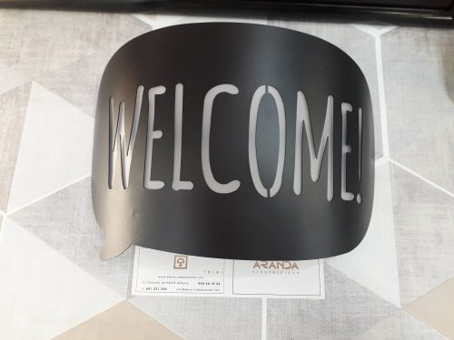 aplique-de-pared-original-negro-welcome-led-electricidad-aranda-lamparas-almeria-