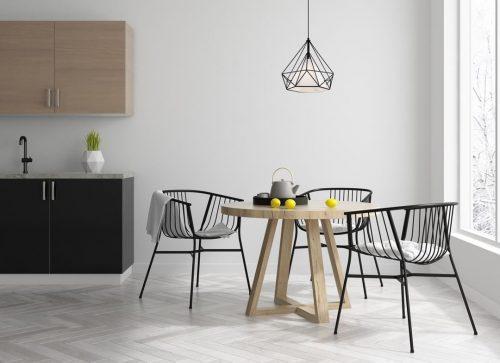 colgante-geometrico-negro-con-interior-tela-lumino-electricidad-aranda-lamparas-almeria-
