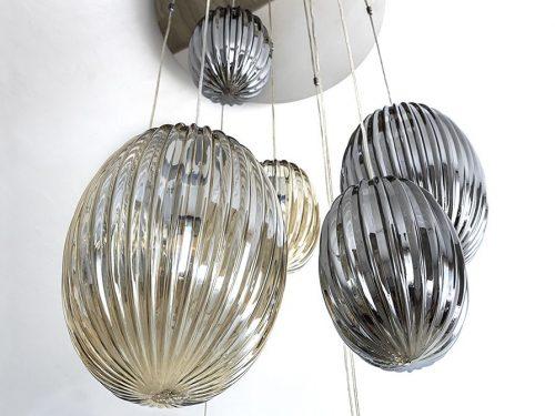 schuller-ovila-electricidad-aranda-lamparas-almeria-752459d-13-light-led-ceiling-pendant-chrome-cognac-smoky-grey-with-remote