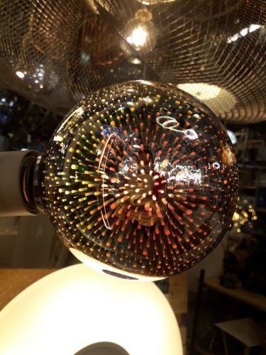 Bombilla Led Globo G125 Efecto 3D E27 4w  plata 11509 Globo Lighting