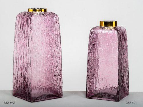 jarron-cristal-rosa-oro-electricidad-aranda-lamparas-almeria-belda-interiorismo