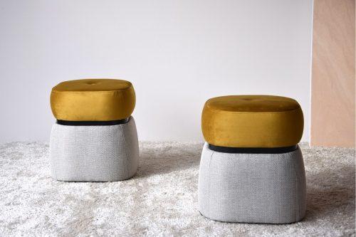set-2-pufs-beige-y-terciopelo-mostaza