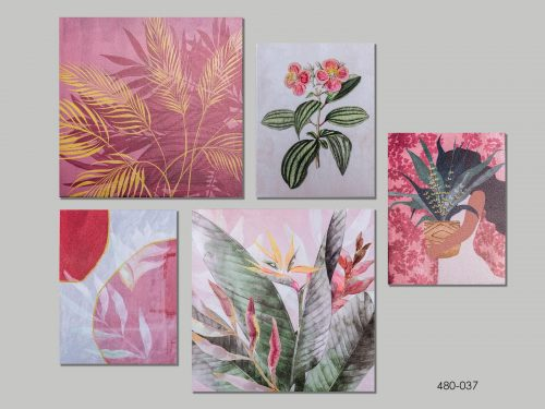 set-5-cuadros-mexico-rosa