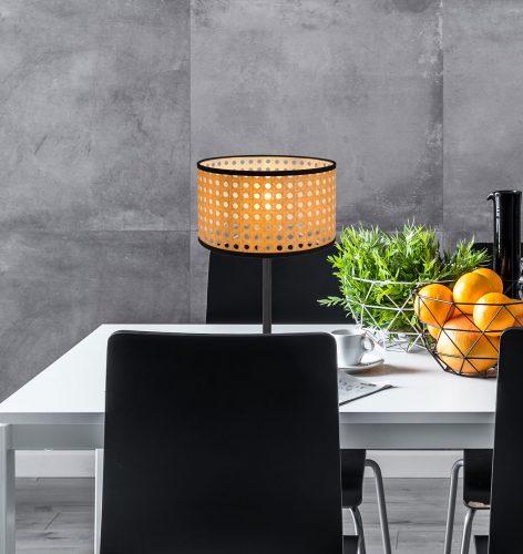 15426T_lampara-sobremesa-negra-rafia-globo-lighting-electricidad-aranda-lamparas-almeria-