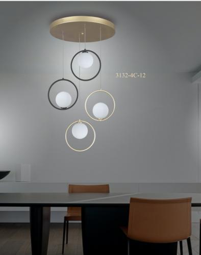 lampara-4-esferas-opal-oro-negro-silvio