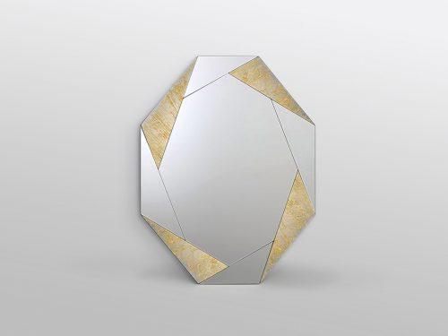 Consola y espejo plata 0002