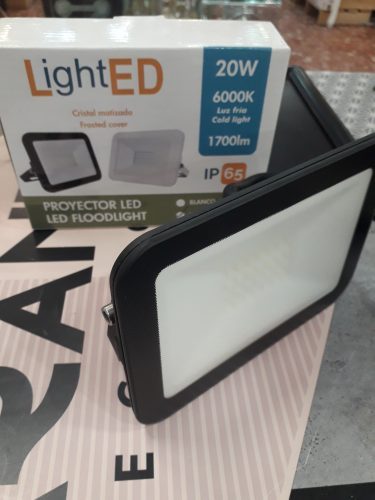 Proyector LED Floodlight Negro ALGSA 20W Luz Fría.  67683 ALG SA